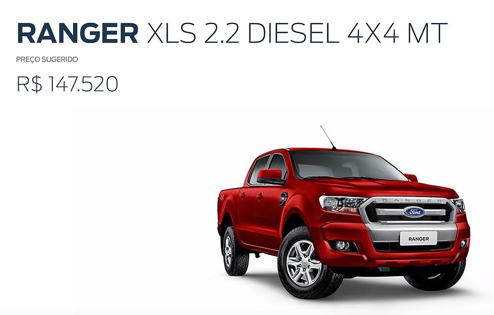 foto de uma campanha publicitária da caminhonete Ranger da Ford.