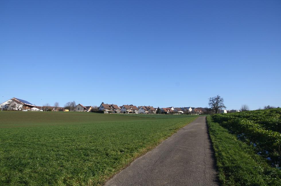 Blick auf Gutenswil von Volketswil her.