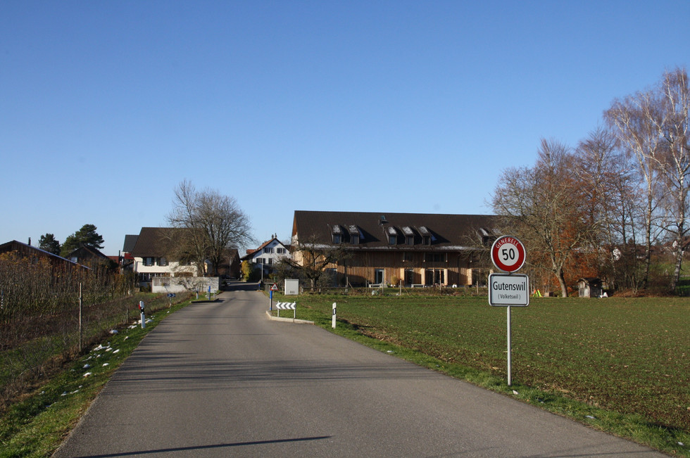 Ortseingang von Richtung Freudwil.