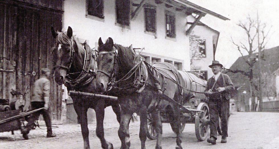 Pferdefuhrwerk, 1935