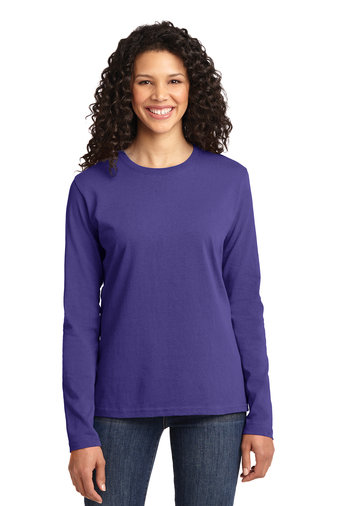 Port & Company® Ladies Long Sleeve Core Cotton Tee