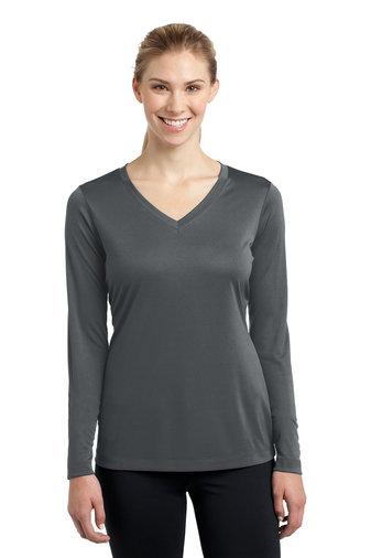 Sport-Tek® Ladies Long Sleeve PosiCharge® Competitor™ V-Neck Tee