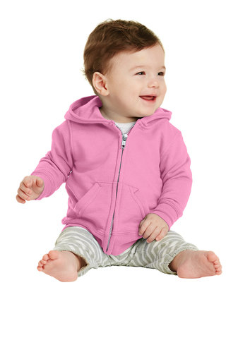 Port & Company® Infant Core Fleece Full-Zip Hooded Sweatshirt