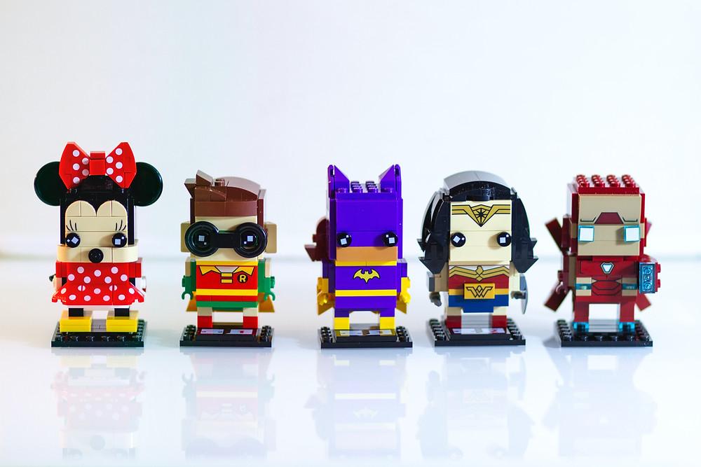 Ryddige lego figurer