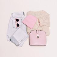 Pastel ropa de color