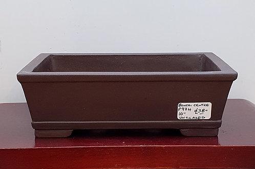 "P974 Unglazed rectangular Pot 10"""