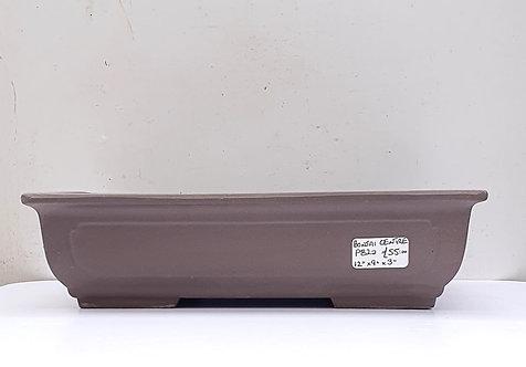 "P820 Unglazed rectangular Pot 12"""