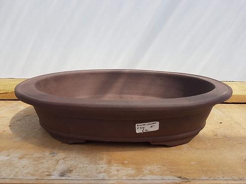 "P914 Unglazed Oval Pot 18"""