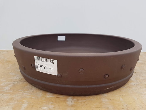 P1023 Unglazed Round Drum Pot 15""