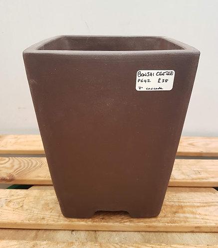 """P642 Unglazed Cascade Pot 7"""""""