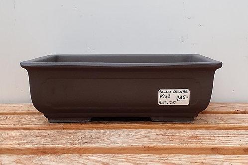 "P943 Unglazed rectangular Pot 9.5"""