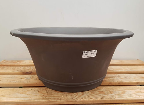 "P1087 Unglazed Round Pot 16"""