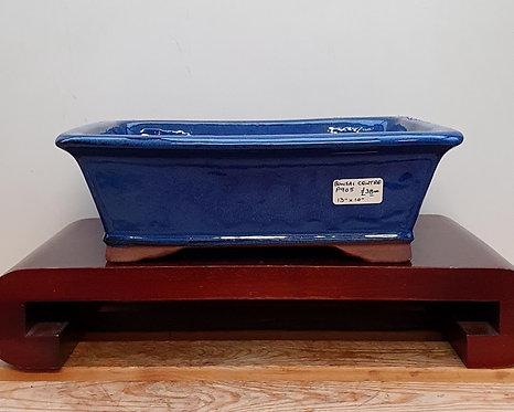 "P905 Blue Glazed Rectangular Pot 12"""