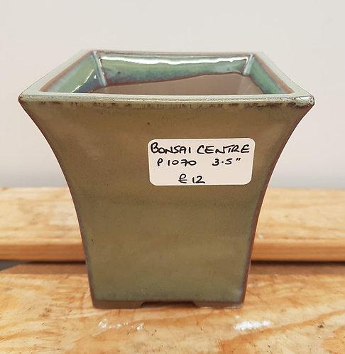 "P1070 Green Glazed Semi-Cascade Pot 3.5"""