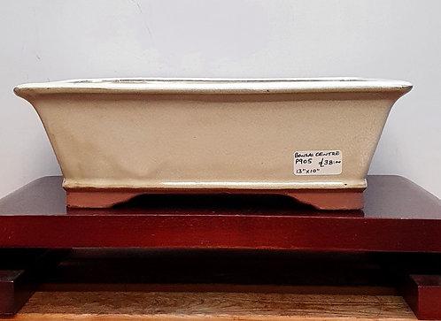 "P905 Cream Glazed Rectangular Pot 12"""