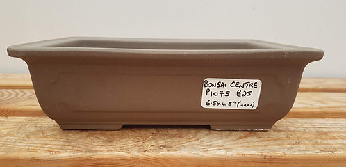 "P1075 Unglazed rectangular Pot 6.5"""
