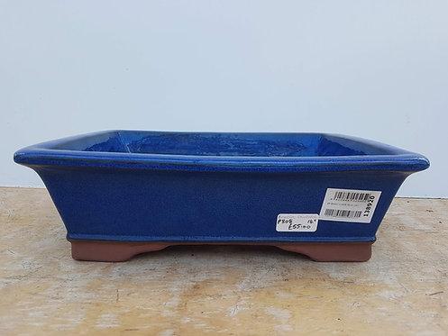 "P808 Blue Glazed Rectangular Pot 14"""