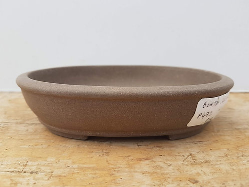P472 Unglazed Oval Pot 6""