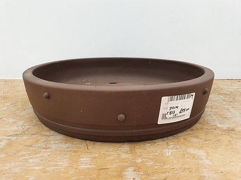 "P813 Unglazed Round Drum Pot 12"""