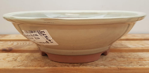 P1078 Cream Glazed Round Pot 11""