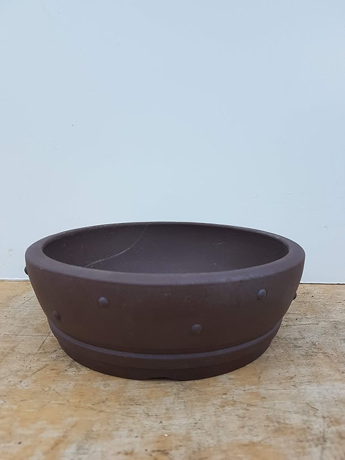 P981 Unglazed Round Drum Pot 10""