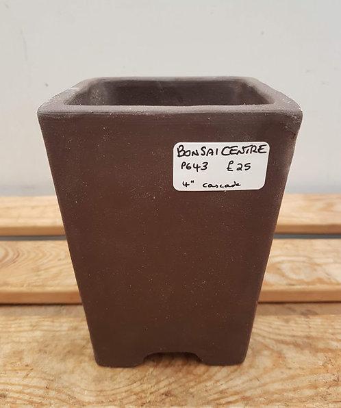 """P643 Unglazed Cascade Pot 4"""""""