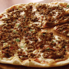 Beef, Bacon, and Blue Cheese Pizza