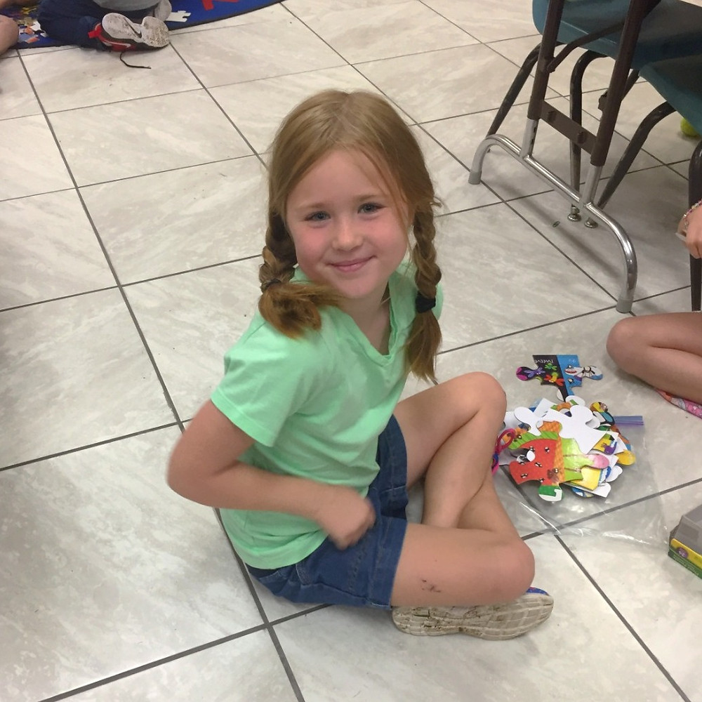 Hadley, Dale's granddaughter on her first day of first grade!