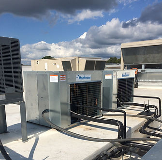 A new Manitowac ice machine condenser installed by Troy from Advantage in Stillwater.
