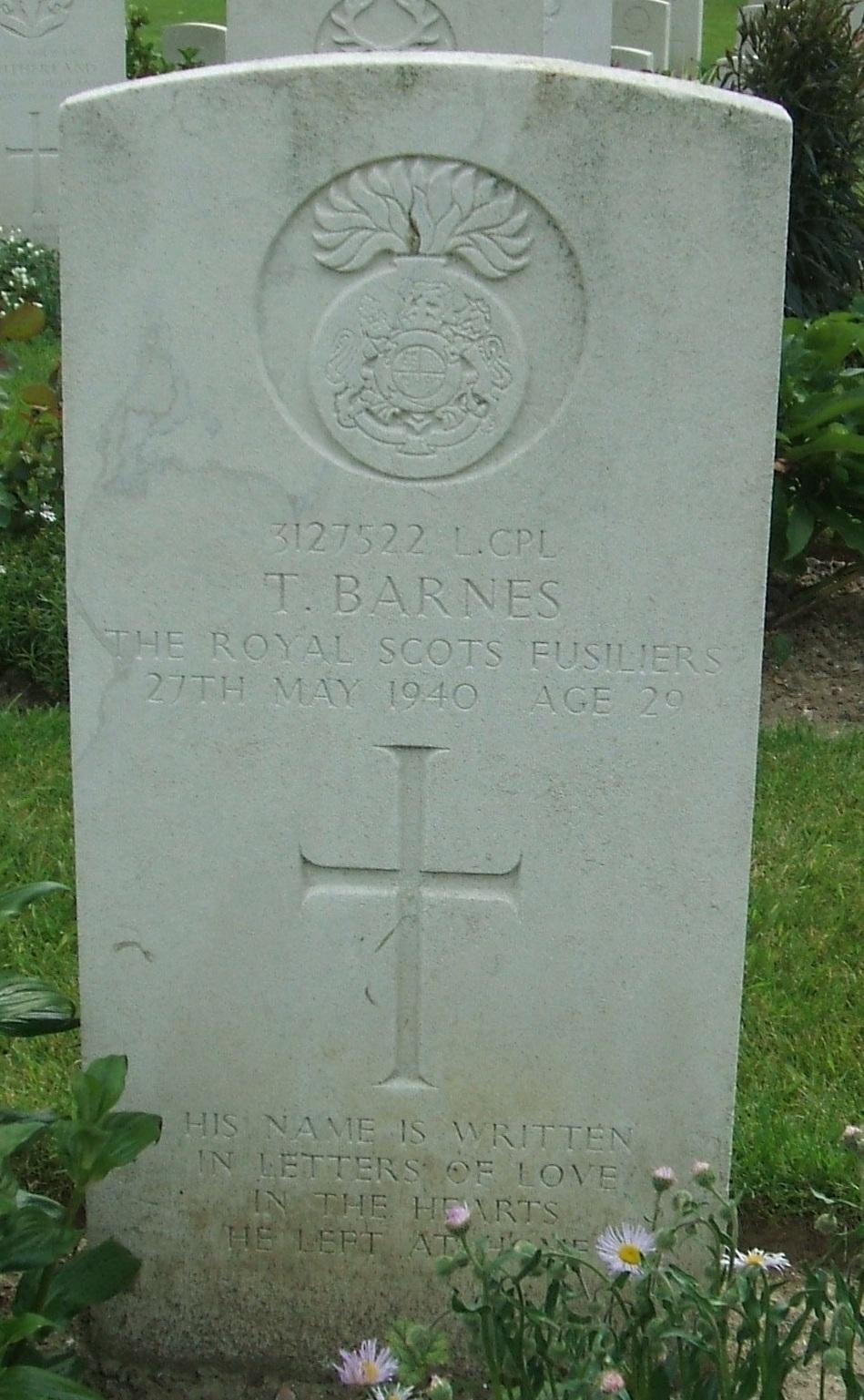 LCpl T Barnes
