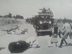 under attack from Arabs - palestine 1938
