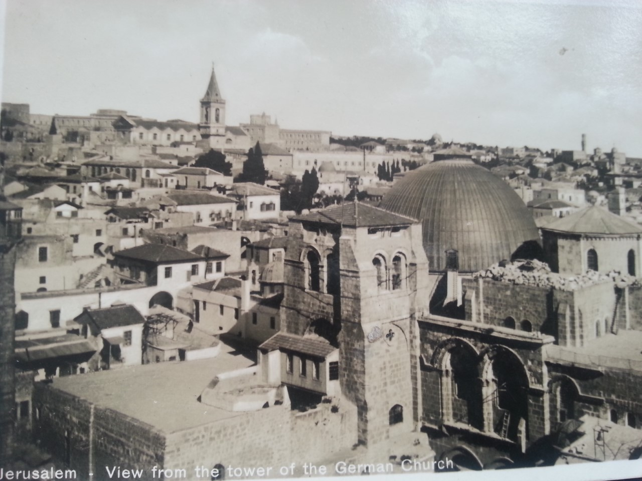 postcard of Jerusalem