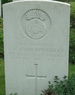 2Lt RV Cholmondeley