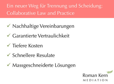 Weshalb lieber Collaborative Law and Practice?