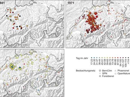 Veränderungen der Jahreszeiten im Kanton Bern über Jahrhunderte