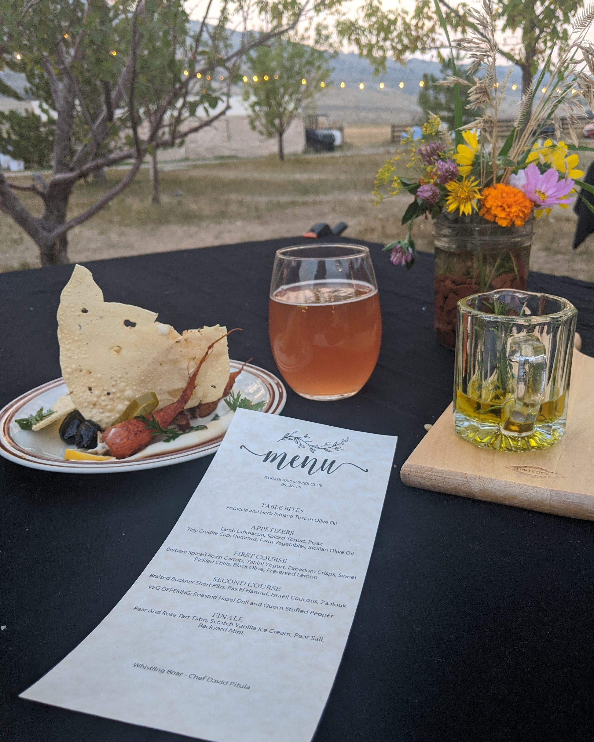 Farm Dinner ~ Kombucha and Views