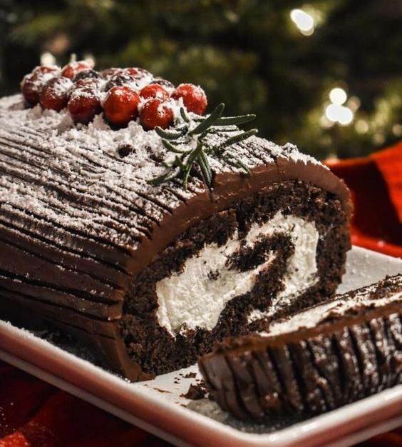 Boar's Yule Log Cake