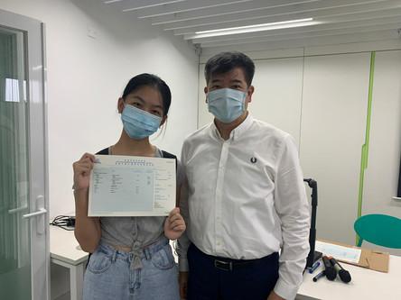 Congratulations! 恭賀徐菁同學、程慧同學和姚朗晴同學在2020-21年度中學文憑考試考獲優良成績!