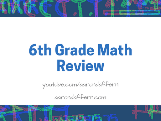6th Grade Math Review: Day 12