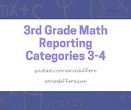 3rd Grade Math Reporting Categories 3-4.