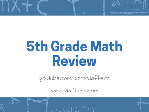 5th Grade Math Review: Day 12