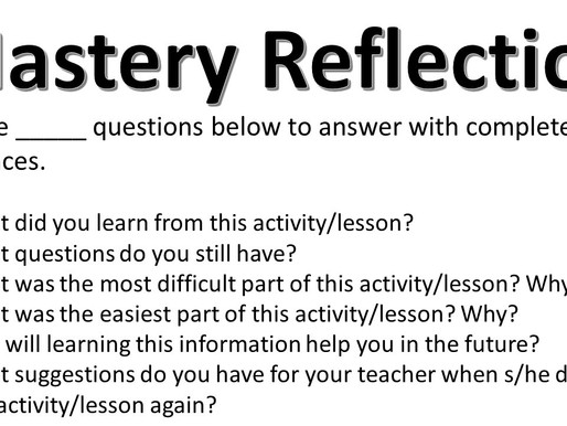 Mastery Reflection