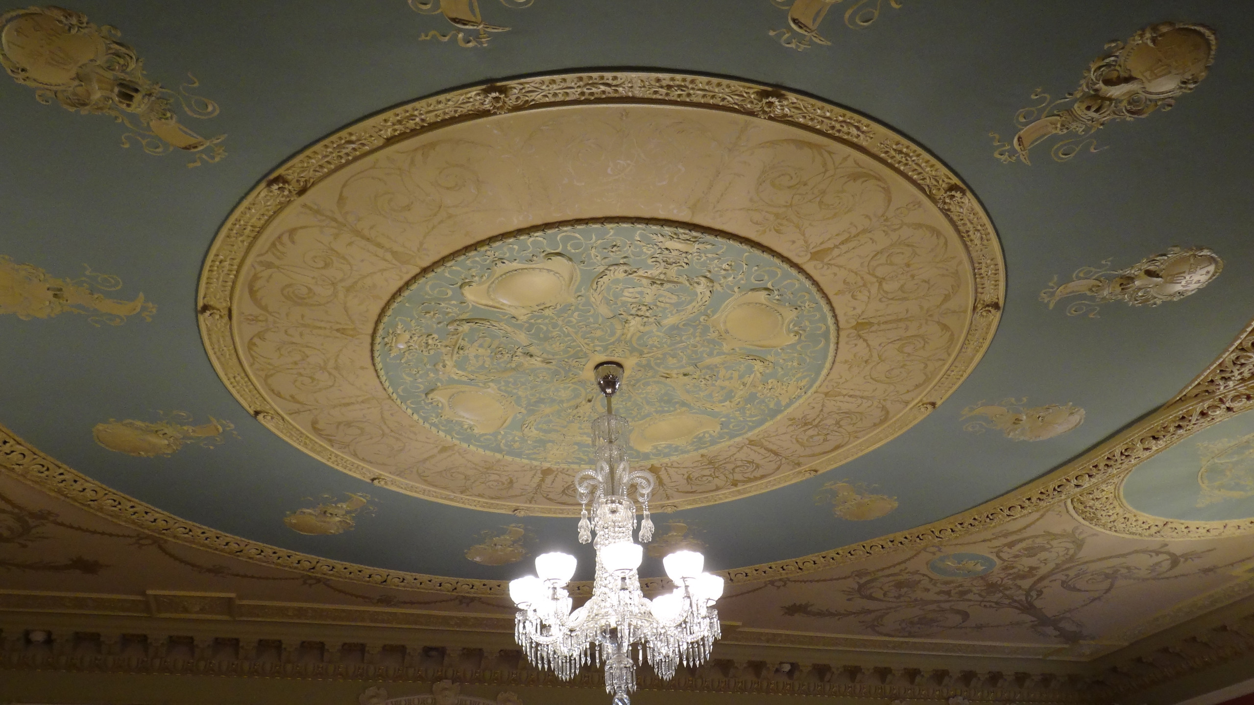 ceiling of lady's sitting room