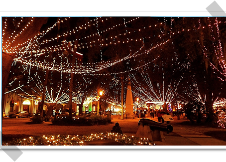 The Night of Lights --                       St. Augustine, Florida
