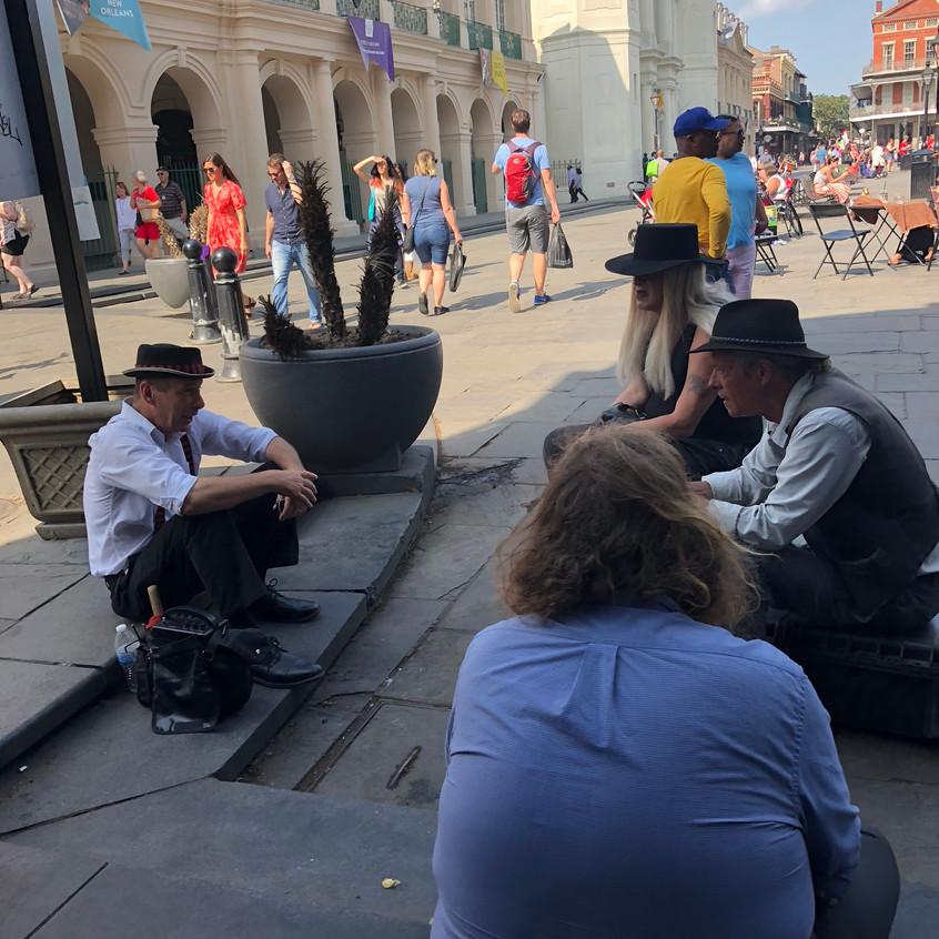 people sitting around