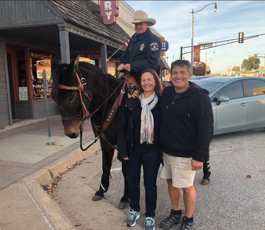 cops riding burros
