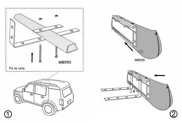 How to install car side awning-1