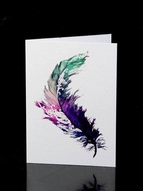 Henna Feather Card