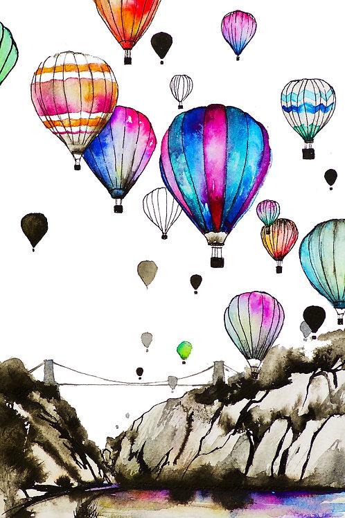 Bristol Balloons artwork A4 Print