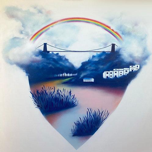 Original 'Love Bristol' Spray Painting